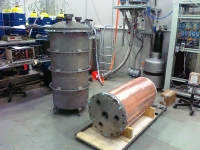 Titanium cryostat RED-100 delivered to the Laboratory.