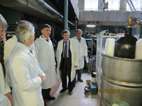 The management of NRNU MEPhI is visiting the lab